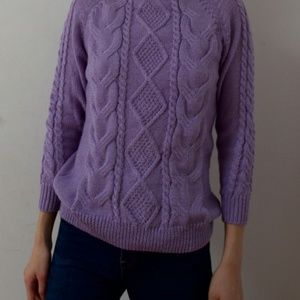 Sweaters - Like-New Knit Purple Sweater